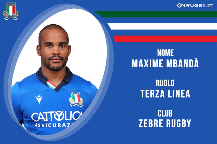 maxime mabndà italiana rugby - Italrugby
