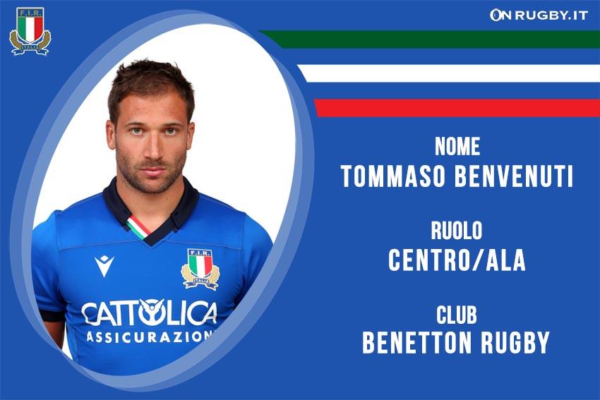 Tommaso Benvenuti nazionale italiana rugby - Italrugby