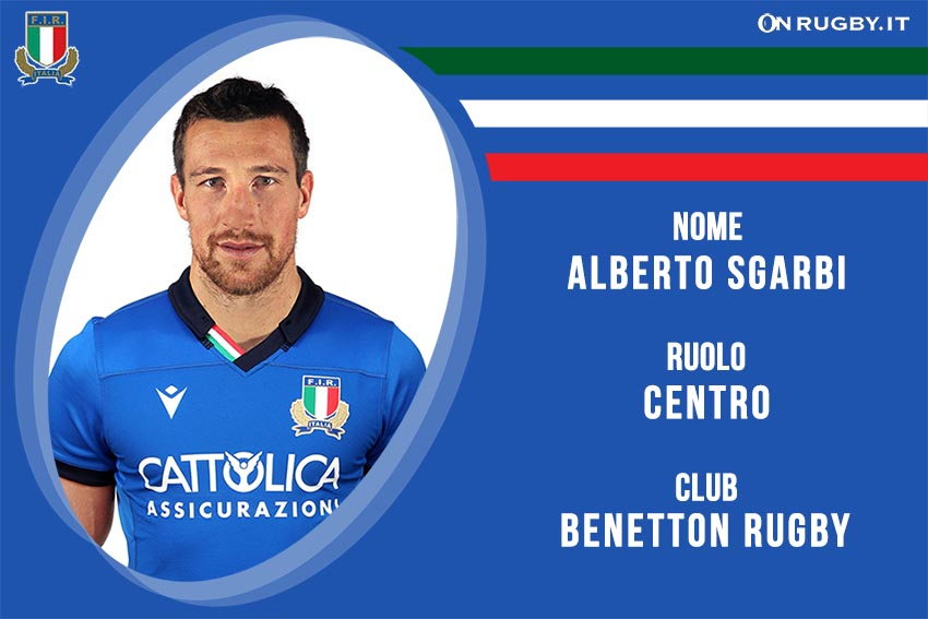 Alberto Sgarbi nazionale italiana rugby - Italrugby