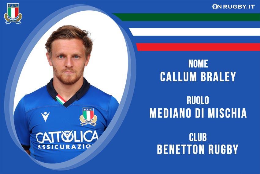 Callum Braley nazionale italiana rugby-Italrugby