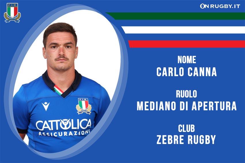 Carlo Canna nazionale italiana rugby - Italrugby