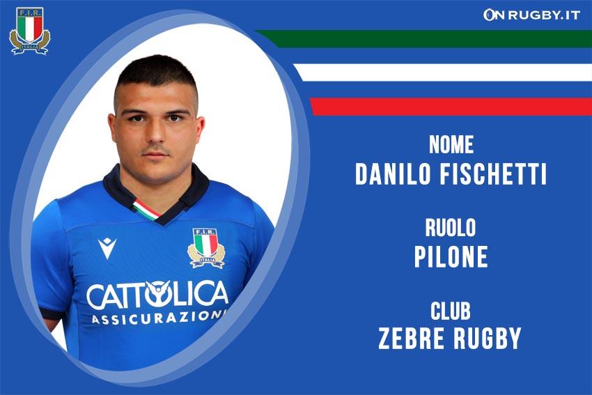 Danilo Fischetti nazionale italiana rugby - Italrugby