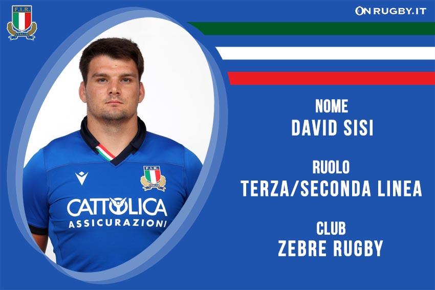 David Sisi nazionale italiana rugby - Italrugby