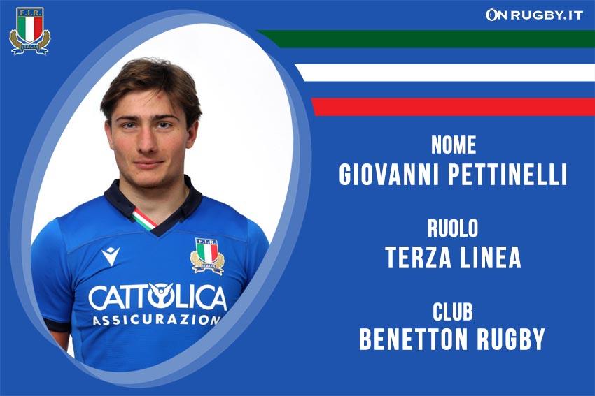 Giovanni Pettinelli nazionale italiana rugby - Italrugby