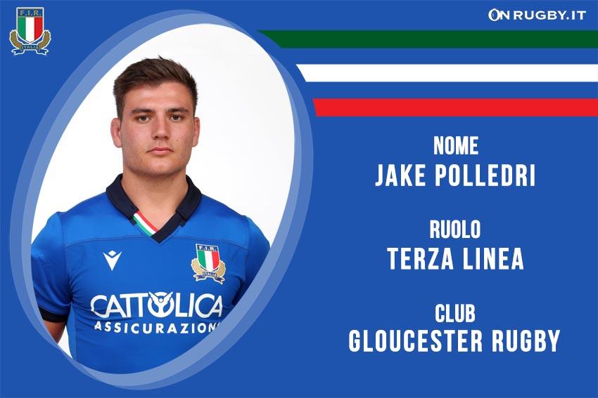 Jake Polledri nazionale italiana rugby - Italrugby