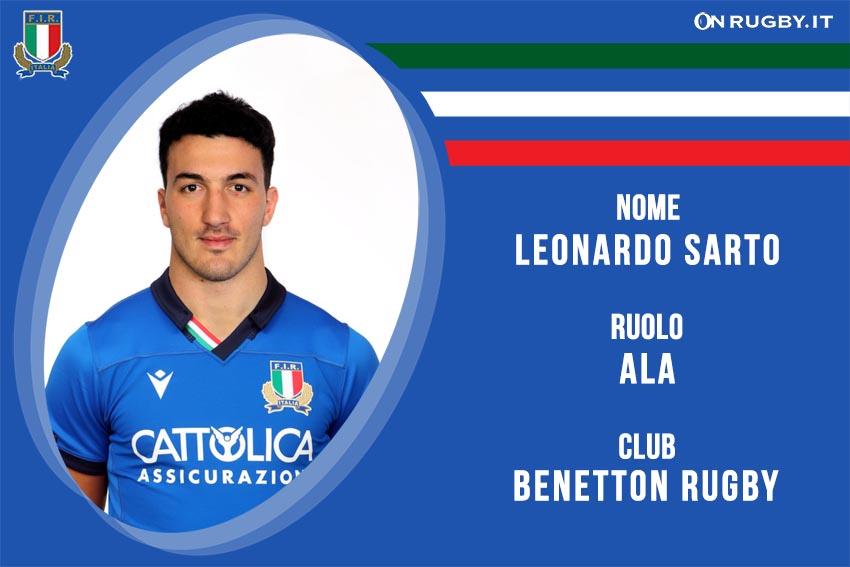 Leonardo Sarto nazionale italiana rugby - Italrugby