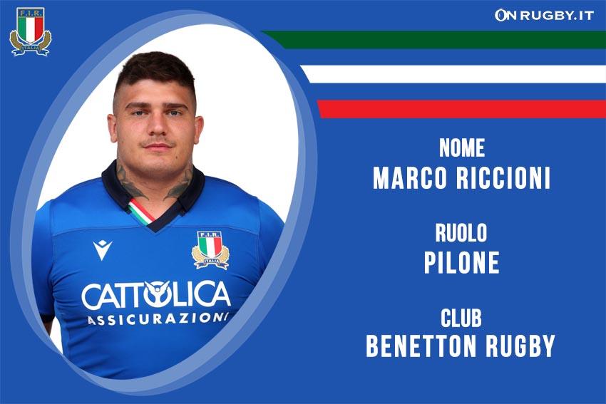 Marco Riccioni nazionale italiana rugby - Italrugby