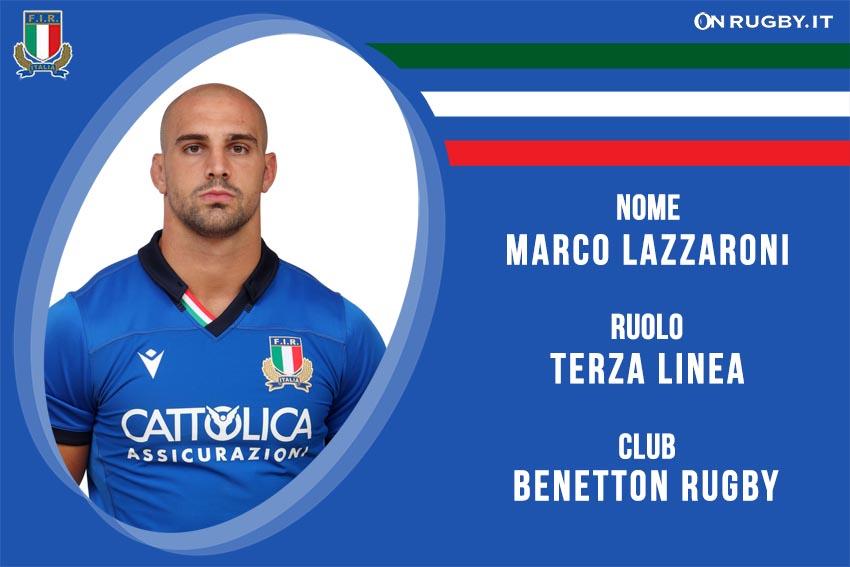 Marco Lazzaroni copia nazionale italiana rugby - Italrugby