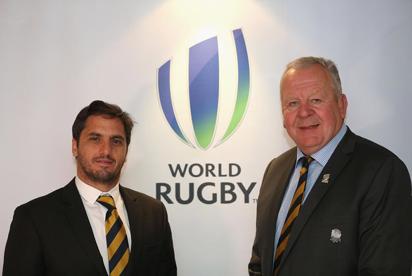 World Rugby Agustín Pichot e Bill Beaumont