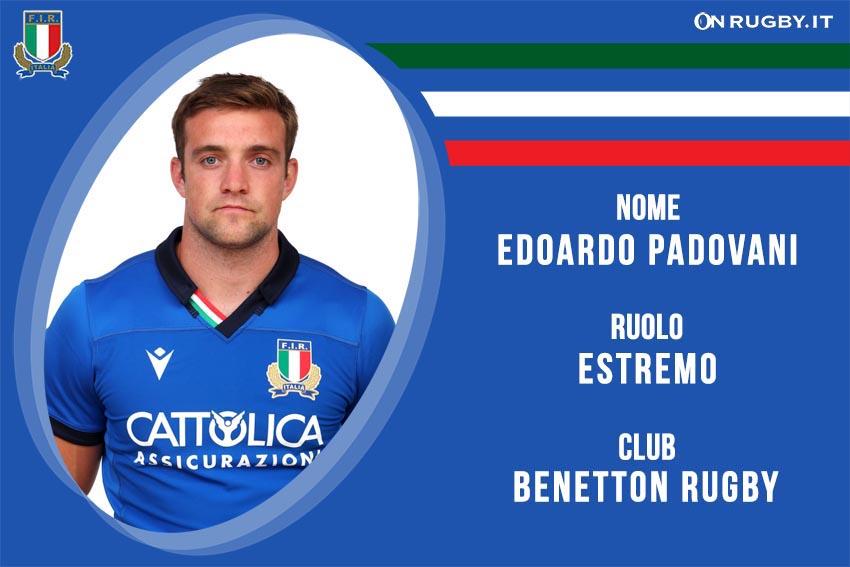 Edoardo Padovani nazionale italiana rugby - Italrugby