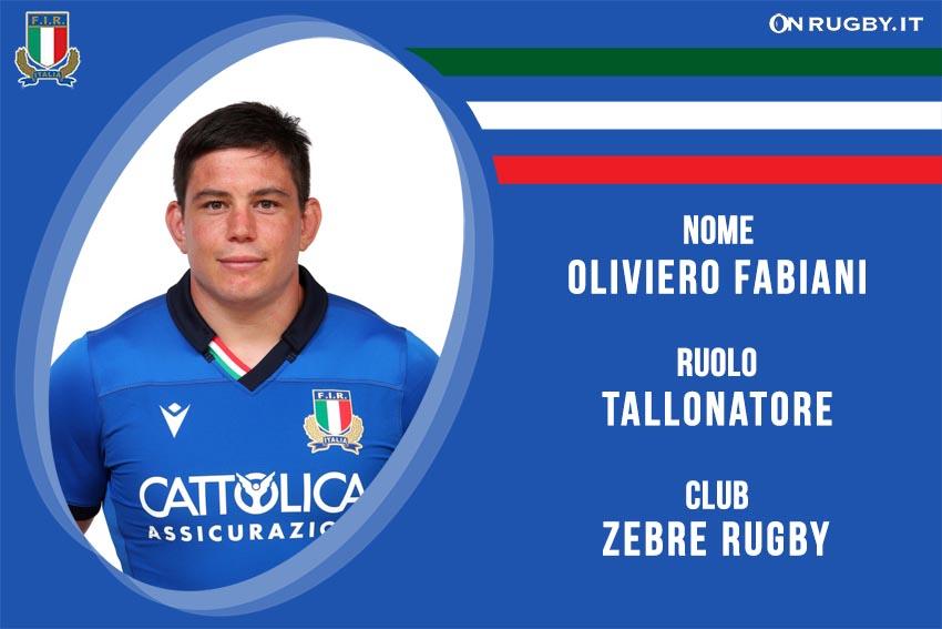 Oliviero Fabiani nazionale italiana rugby - Italrugby