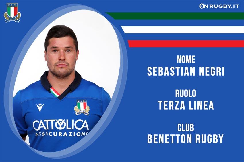 sebastian negri nazionale italiana rugby - Italrugby
