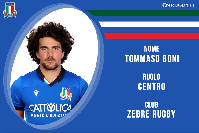 Tommaso Boni nazionale italiana rugby - Italrugby