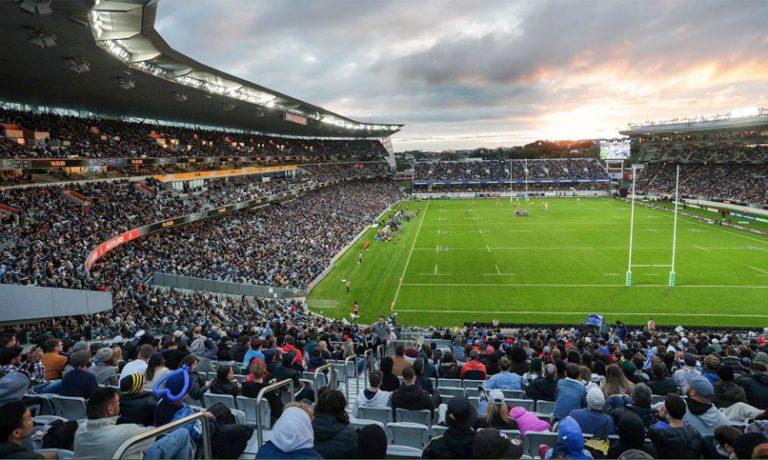 Nuova Zelanda: L'Eden Park avrebbe dovuto ospitare la partita amichevole tra Blues e Crusaders Ph. Twitter