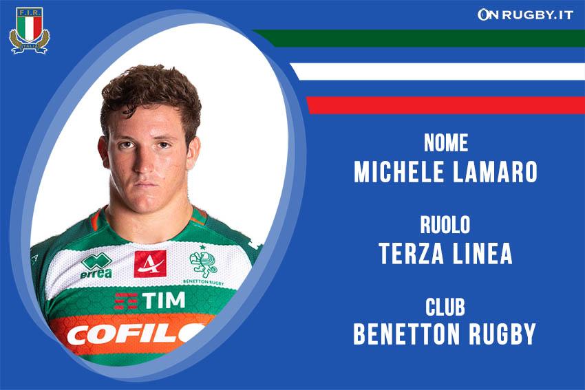 Michele Lamaro-Nazionale italiana Rugby
