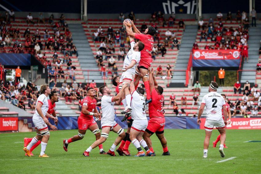 Champions Cup: Un'immagine da Tolosa-Ulster della scorsa edizione della coppa- Fred SCHEIBER / AFP