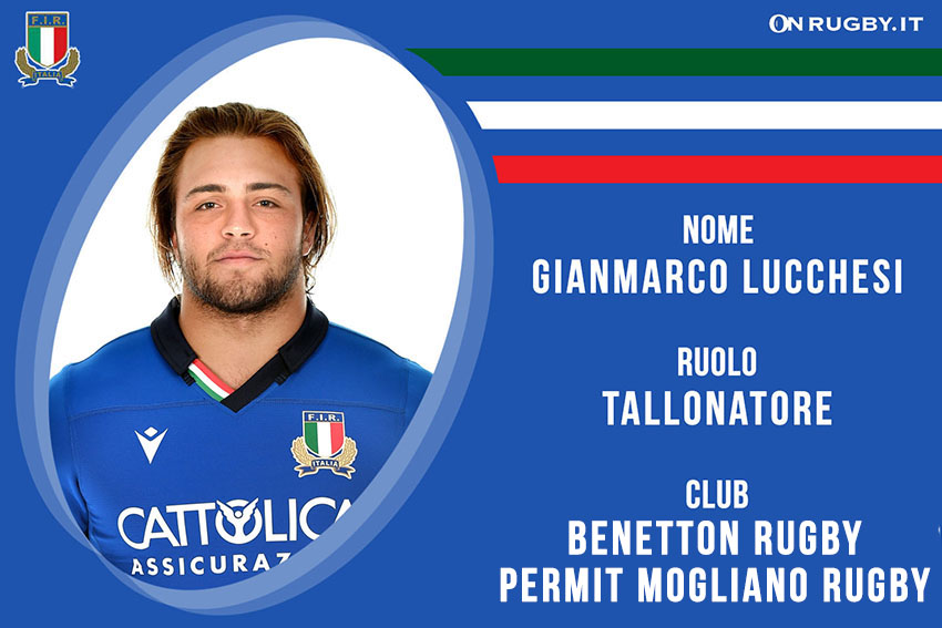 Gianmarco Lucchesi rugby Nazionale Italiana  e benetton Rugby