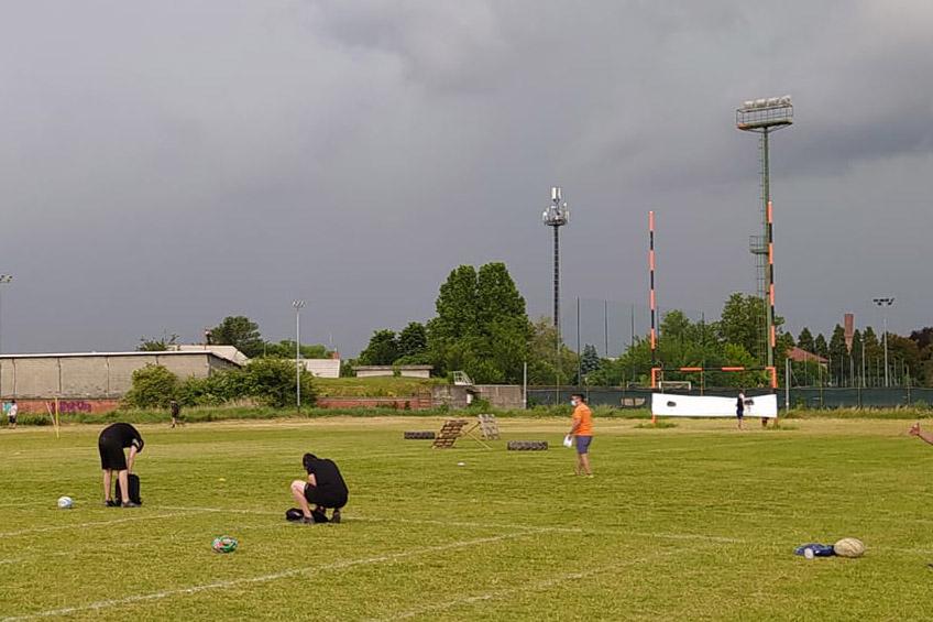 Il campo del Collegno Rugby nell'impianto S. Allende