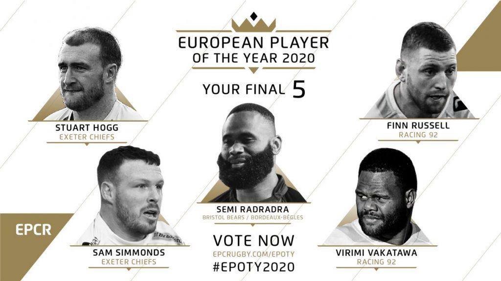 I candidati al titolo di giocatore dell'anno per l'EPCR