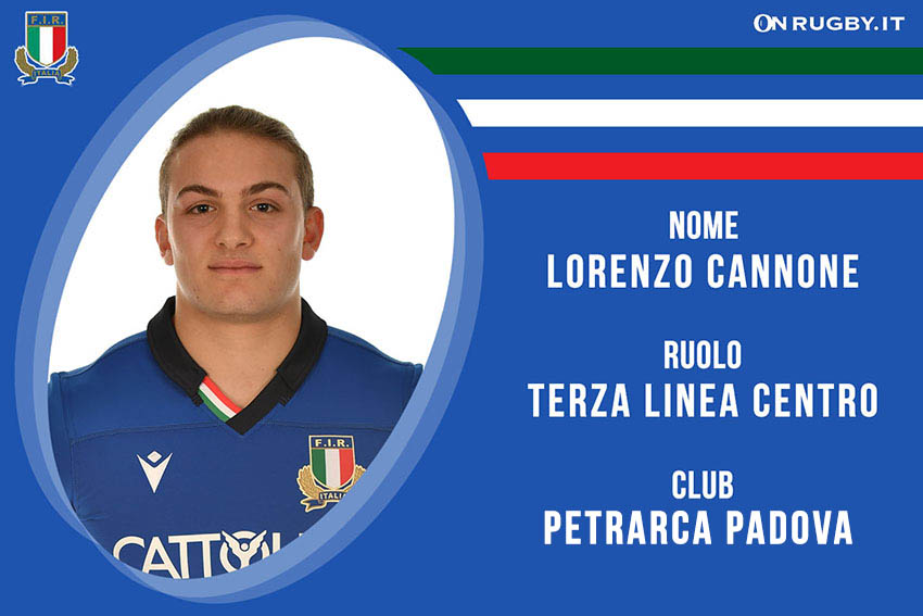 Lorenzo Cannone rugby nazionale under 20
