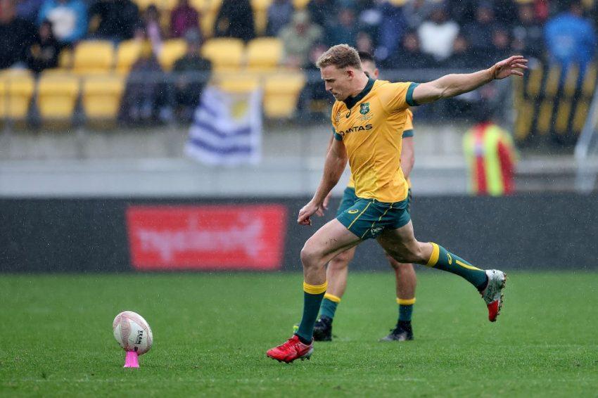 Tri Nations: Reece Hodge ha fallito al 79esimo il calcio che avrebbe potuto regalare il successo all'Australia - ph. Marty MELVILLE / AFP