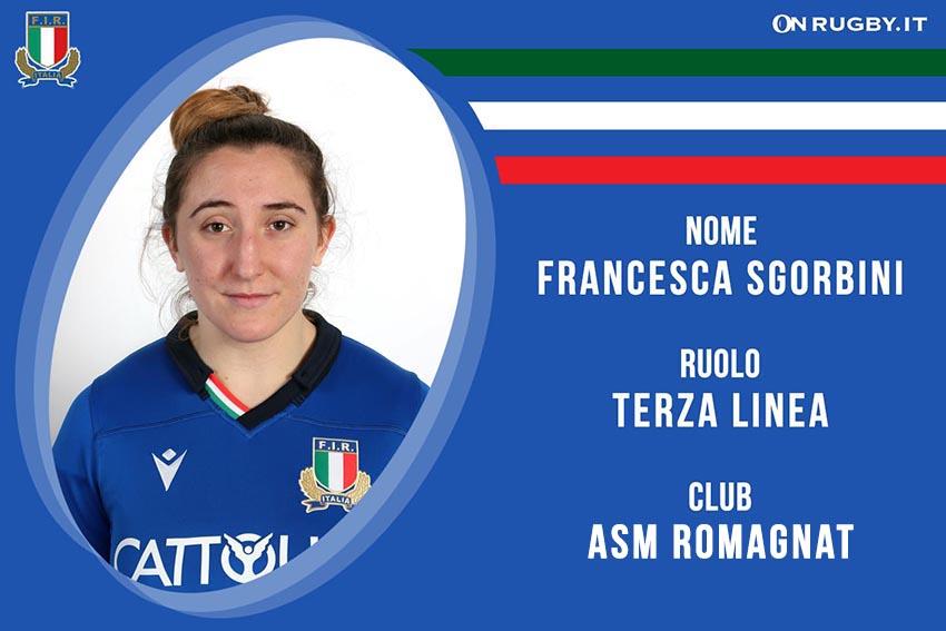 Francesca Sgorbini Rugby Nazionale italiana Femminile