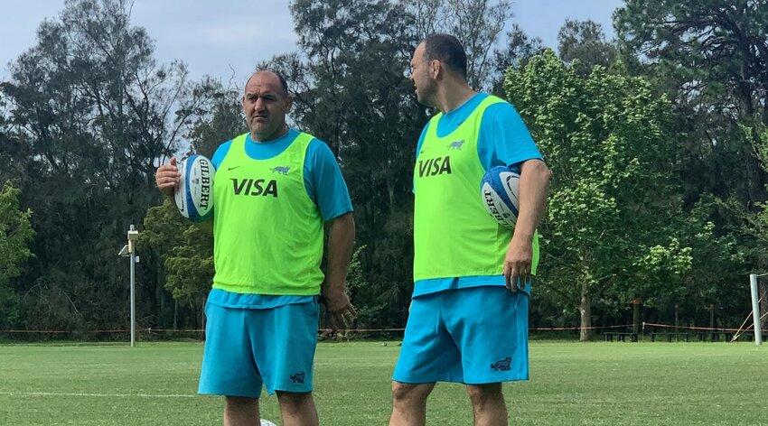 Mario Ledesma e Michael Cheika nel raduno dell'Argentina - Twitter UAR