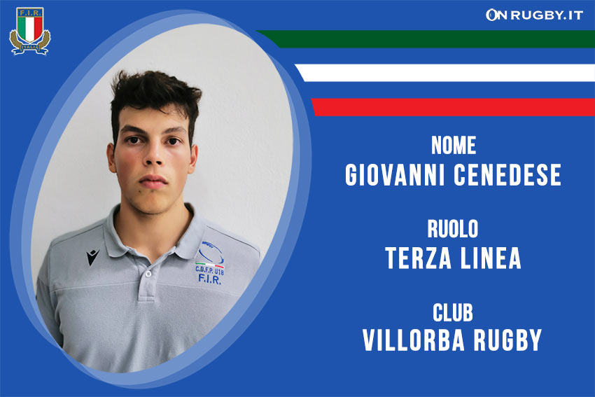 Giovanni Cenedese-rugby-nazionale under 20
