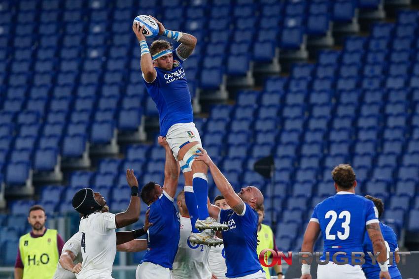 La formazione dell'Italia del rugby contro la Scozia, per il debutto in Autumn Nations Cup
