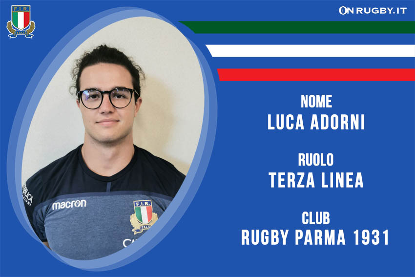 Luca Adorni -rugby-nazionale under 20