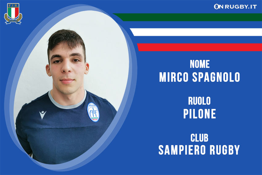 Mirco Spagnolo-rugby-nazionale under 20