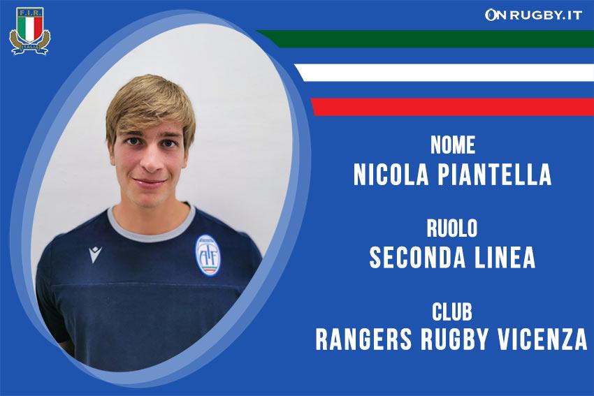 Nicola Piantella -rugby-nazionale under 20