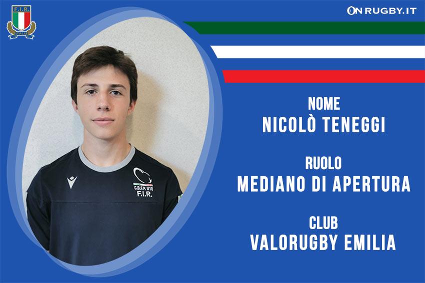 Nicolo Teneggi -rugby-nazionale under 20