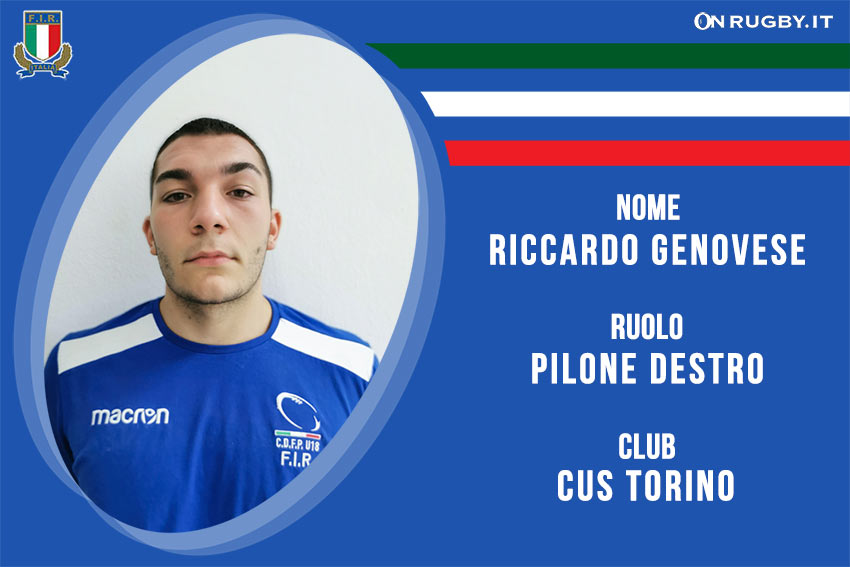 Riccardo Genovese-rugby-nazionale under 20