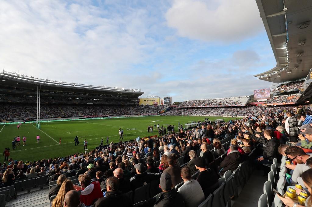 Super Rugby Trans-Tasman: Eden Park, la casa dei Blues (Photo by MICHAEL BRADLEY / AFP)