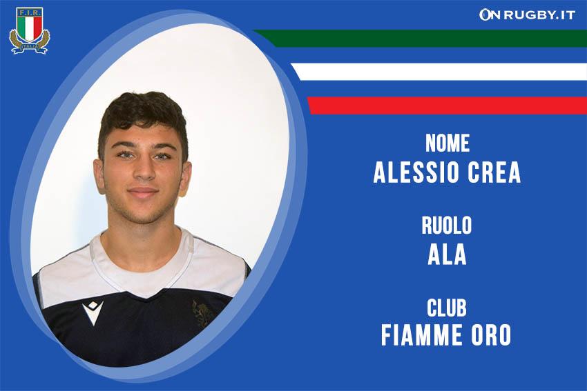 Alessio Crea Nazionale italiana Rugby Under20
