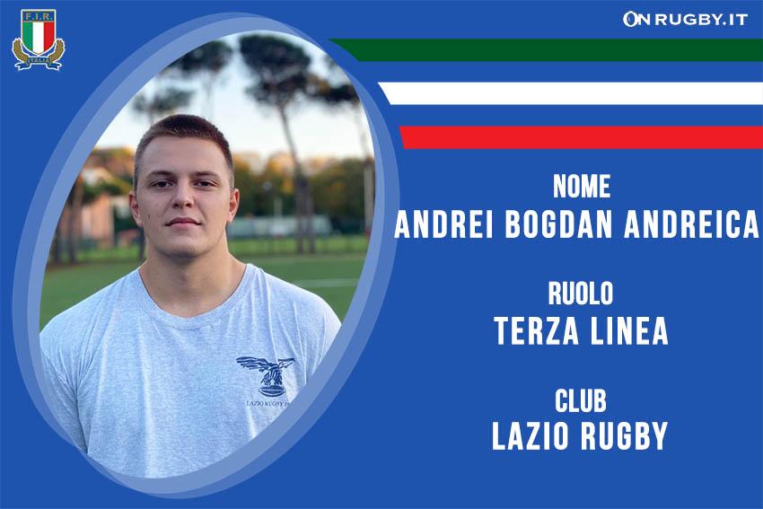 Andrei Bogdan Andreica Nazionale italiana Rugby Under20
