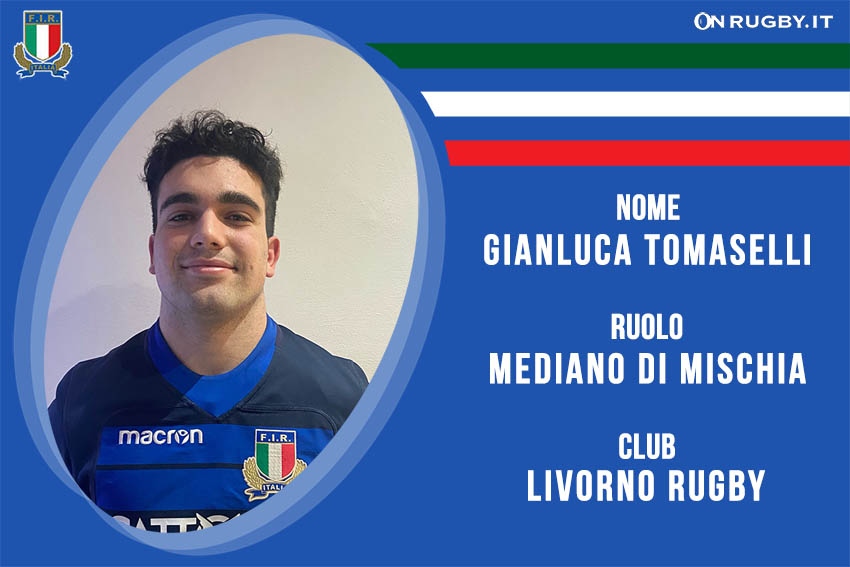 Gianluca Tomaselli Nazionale italiana Rugby Under20