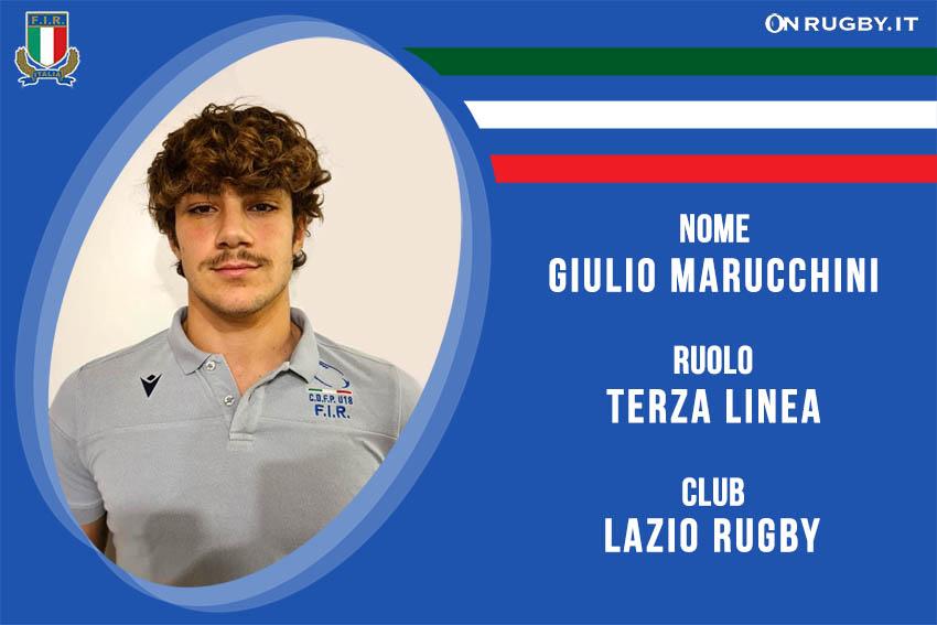 Giulio Marucchini Rugby - Nazionale italiana Under20