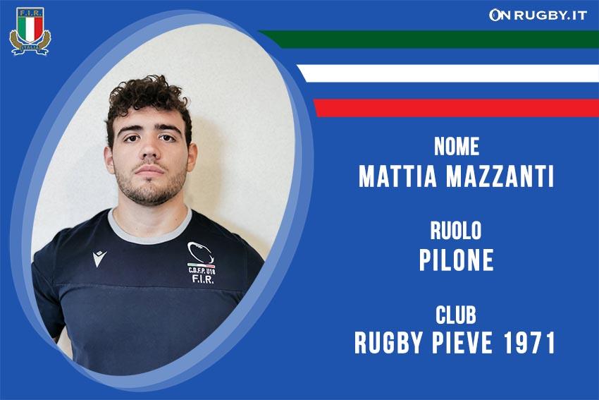 Mattia Mazzanti Nazionale italiana Rugby Under20