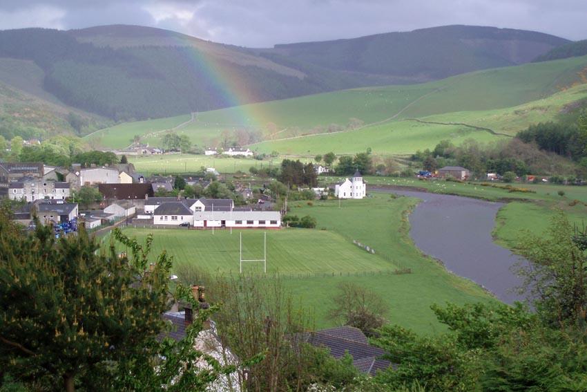 I campi da rugby più belli del mondo -Walkerburn Scozia