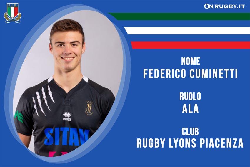 Federico Cuminetti Nazionale italiana Rugby Under20