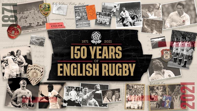 La RFU, Federazione di Rugby Inglese, festeggia 150esimo anniversario nel 2021