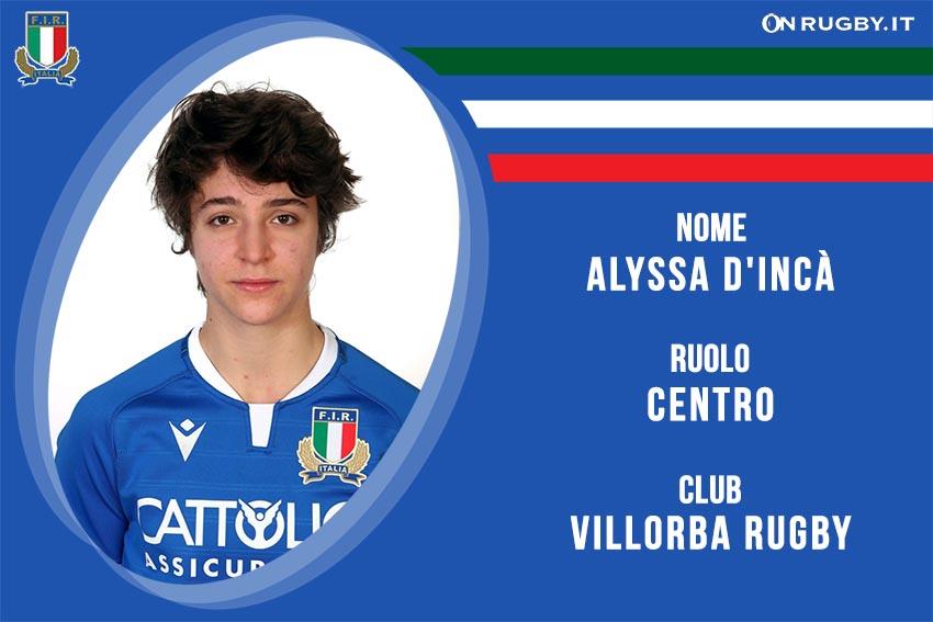 Alyssa d'Incà rugby Nazionale Italiana Femminile