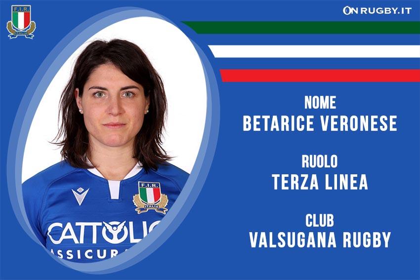 Betarice Veronese rugby Nazionale Italiana Femminile