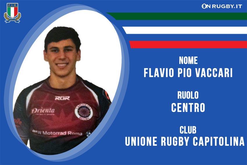 Flavio Pio Vaccari-Rugby Nazionale italiana Under20