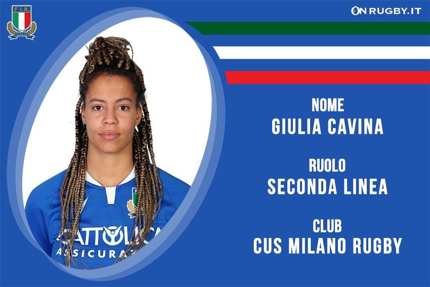 Giulia Cavina rugby Nazionale Italiana Femminile