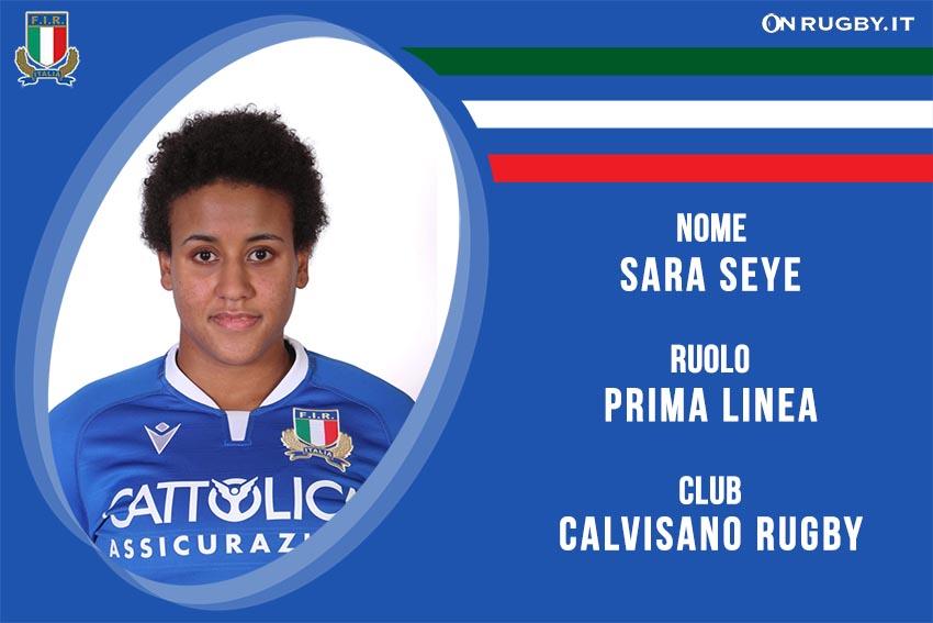 Sara Seye rugby Nazionale Italiana Femminile