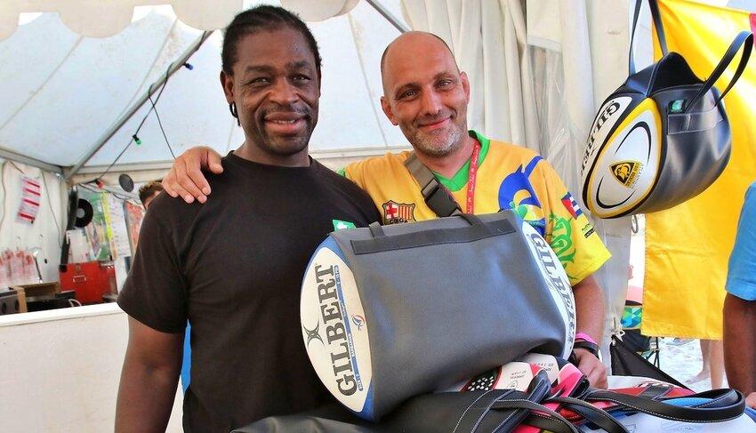 Serge Betsen con Lionel Quenardel, ideatore del progetto
