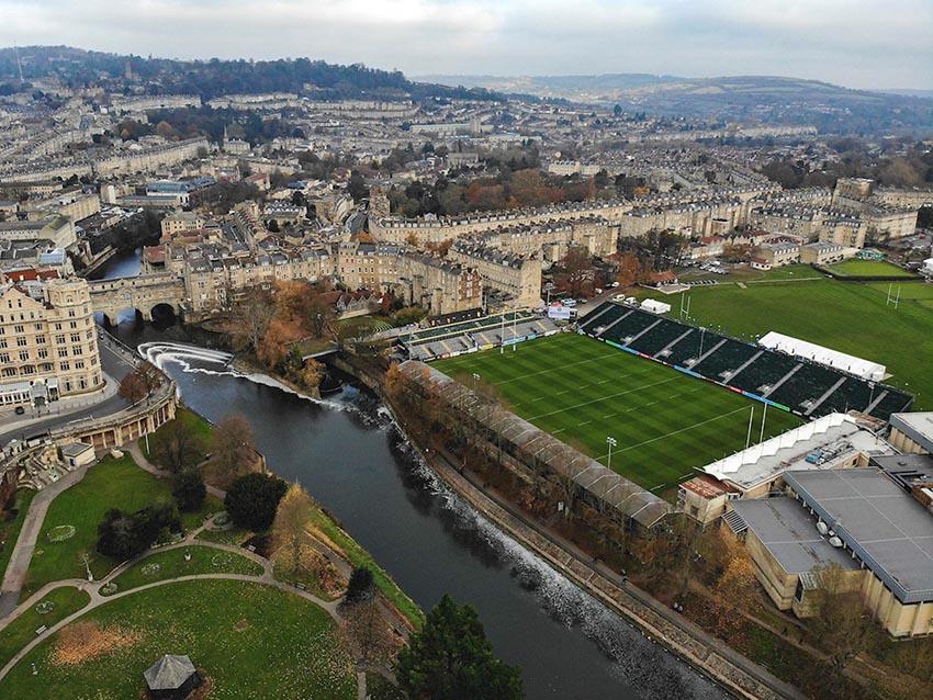 """I campi da rugby più spettacolari del mondo- il Recreation Ground , soprannominato """"The Rec"""""""